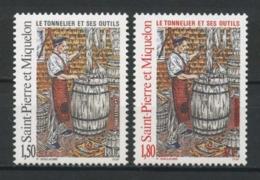 SPM MIQUELON 1995 N° 612/613 ** Neufs MNH Superbes C 1,80 € Le Tonnelier Outils Tools - St.Pierre Et Miquelon