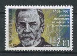 SPM MIQUELON 1995  N° 609 ** Neuf MNH  Superbe C 1.60 €  Louis Pasteur Médecine Medicine Cornues Et éprouvettes - Neufs