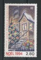 SPM MIQUELON 1994 N° 608 ** Neuf MNH Superbe C 1.70 €  Noël Christmas Sapin Maison Décor De Fêtes - Neufs