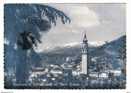 VALDOBBIADENE - VARIETA':  PANORAMA  COL  M. GRAPPA  -  VISTOSO  DIFETTO  DI  STAMPA  -  FOTO  -  FG - Treviso