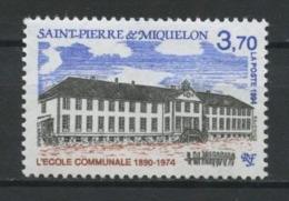 SPM MIQUELON 1994 N° 607 ** Neuf MNH Superbe C 1.70 € Ecole Communale School Bâtiments Publics - St.Pierre Et Miquelon