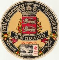 Rare étiquette De Fromage Camembert Lavalou - Fromage
