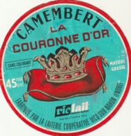 Rare étiquette De Fromage Camembert La Couronne D'or - Fromage