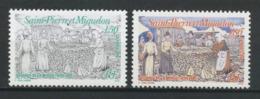 SPM MIQUELON 1994 N° 595/596 ** Neufs MNH Superbes C 1,90 € Poissons Fishes Pêche Sèchage De La Morue Femmes - St.Pierre Et Miquelon