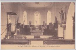 MENNEVRET (Aisne) - Eglise - Vue Intérieure - France