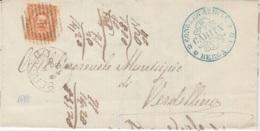 Annullo A Sbarre Bergamo 1888 - 1900-44 Vittorio Emanuele III