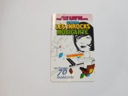 Télécarte , Mobicarte , MBC85 , Inrocks - Mobicartes (recharges)