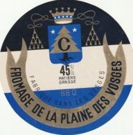 Rare étiquette De Fromage  De La Plaine Des Vosges - Fromage