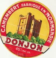 Rare étiquette De Fromage  Camembert Donjon - Fromage