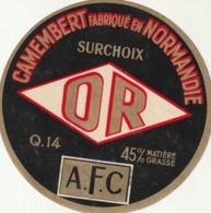 Rare étiquette De Fromage  Camembert Surchoix Or - Fromage