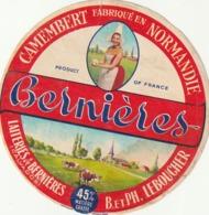 Rare étiquette De Fromage  Camembert Bernières - Fromage