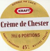 Rare étiquette De Fromage  Crème De Chester - Fromage
