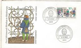 ALEMANIA FDC BONN 1980 VINO WINE ENOLOGIA - Vinos Y Alcoholes