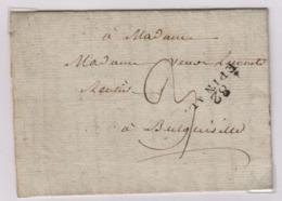 EPINAL (Vosges) Avec Accent, 15 Mars 1810, Pour Bulgnéville, Taxe Manuscrite 3 Décimes, - 1801-1848: Précurseurs XIX