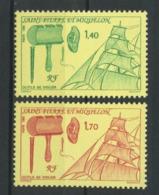 SPM MIQUELON 1991 N° 535/536 ** Neufs MNH Superbes C 1.80 € Bateaux Boats Ships Transports Outils De Voilier Tools - St.Pierre Et Miquelon