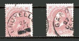BE   34 - 34a   Obl   ---   Les 2 Nuances... - 1869-1883 Leopold II