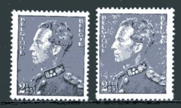 BE   529 - 529a   XX   ---   Les 2 Nuances - 1936-51 Poortman
