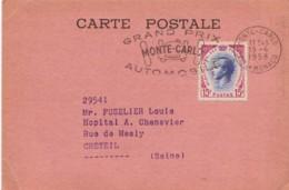 MONACO : 1958 - Carte Postale Pour Créteil - Grand Prix Automobile (2 Scans) - Monaco
