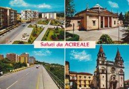 SALUTI DA ACIREALE - CATANIA - 4 VEDUTE DELLA CITTA' - Acireale