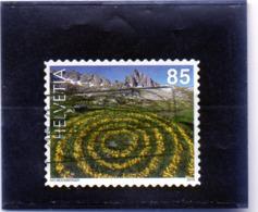 2019 Svizzera - Land Art - Cerchi Di Margheritine Gialle - Usati