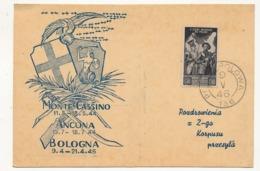 POLOGNE - Corps Polonais En Italie - Carte Commémorative 1946 - Vignettes De La Libération