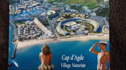 CPM CAP D AGDE 34  COQUILLAGE BENITIER FEMME NUE HOMME NU VILLAGE NATURISTE ED LARREY - Agde