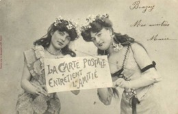 Bergeret Jeunes Femmes La Carte Postale Entretient L'Amitié RV - Women