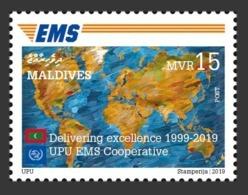 Maldives. 2019  Delivering Excellence 1999-2019, UPU EMS Cooperative.. (0201aL)  LOCAL ISSUE - Poste