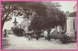 Cros De Cagnes - Boulevard De La Plage - Eglise - Cycliste - Animée - Edit. TAIRRAZ - France