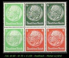 Postfrischer ZDR - Mi. Nr. W 70 +  S 159 - Zusammendrucke