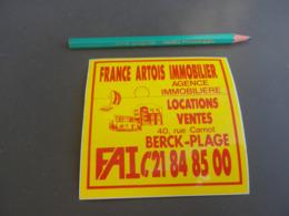 Autocollant - Ville - BERCK PLAGE - Flandre Artois Immobilier - Autocollants