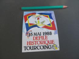 Autocollant - Ville - TOURCOING - 1988 - Autocollants