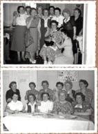 2 Photos Originales Collègues De Travail Qui Ont Le Sens Su Travail Ou De La Fête - Sangria & Gâteau Au Boulot ! 1950/60 - Métiers