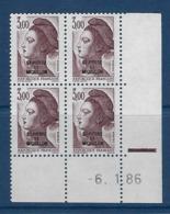 """SPM Coins Datés YT 465 """" Liberté 3F Brun-violet """" Neuf** Du 6.1.86 - Unused Stamps"""