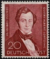 ~~~  Germany Berlin 1951 - Albert Lortzing - Mi. 74 MNH ** - Cat. 60.00 Euro   ~~~ - Unused Stamps