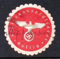 GERMANY WW2 3RD THIRD REICH REGIERUNGSPRÄSIDENT AUSSIG GOVERNMENT PRESIDENT CIVIL ADMIN SIEGELMARKE NAZI GERMAN SEAL - Cartas