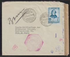 1943 ITALY - DOUBLE CENSOR OKW & CONTROLLO STAMPA ESFERA MINISTERIO DE LA CULTURA - Marcofilía