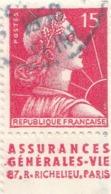 "PIA - FRA - 1955 : ""Marianna Di Muller"" Con Banda Pubblicitaria - (Yv 1011a) - France"