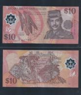 1998 Brunei 10 Dollar $ 10 Polymer Banknote Currency Money Nice No.802785 (#149C) - Brunei