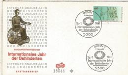 ALEMANIA FDC BONN 1981 MINUSVALIDO HANDICAPED - Handicap