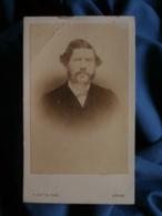 Photo CDV Autin Au Hâvre - Portrait Nuage Homme Moustache à La François Joseph, Second Empire Circa 1865 L464A - Oud (voor 1900)