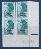 """SPM Coins Datés YT 468 """" Liberté 5F Bleu-vert """" Neuf** Du 3.1.86 - Unused Stamps"""