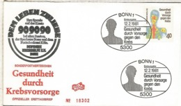 ALEMANIA FDC BONN 1981 MEDICINA SALUD ENFERMEDAD - Enfermedades