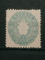 Sachsen Freimarken Mi-Nr. 19 Aa MNH Postfrisch - Sachsen