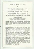 Adel - Perck- St Truiden - Burggraaf Desmaisières 1903- 1971 - Devotieprenten