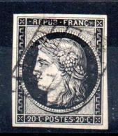 YT N° 3a - Cote: 70,00 € - 1849-1850 Ceres