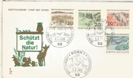 ALEMANIA FDC BONN 1969 PROTECCION NATURALEZA NATURE - Protección Del Medio Ambiente Y Del Clima