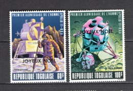 TOGO PA N° 124 + 125  NEUFS SANS CHARNIERE COTE  12.00€  ESPACE NOEL - Togo (1960-...)