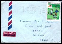 LETTRE EN PROVENANCE DE MADAGASCAR - COUPE DU MONDE DE FOOTBALL - ESPAGNE 1982 - - Coppa Del Mondo