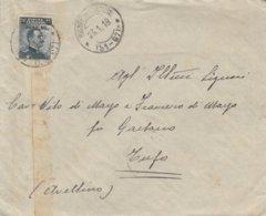 Rionero In Vulture. 1918. Annullo Frazionario (51 - 97 ), Su Lettera Affrancata Con C. 15 Sovrastampato C. 20 - 1900-44 Victor Emmanuel III